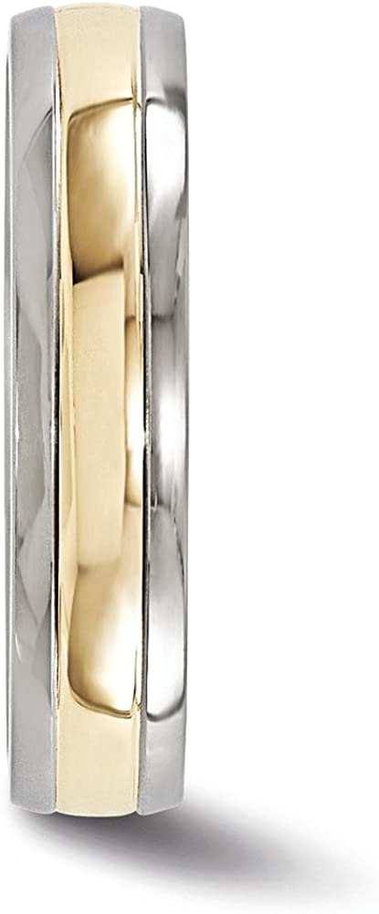 Edward Mirell Titanium with 14K Inlay 5mm Band