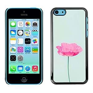 Be Good Phone Accessory // Dura Cáscara cubierta Protectora Caso Carcasa Funda de Protección para Apple Iphone 5C // poppy flower spring pink green spring
