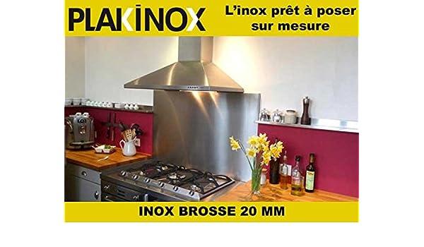 Aparador listo para colocar de acero inoxidable de 20 mm de grosor – 100 x 50 cm – acero inoxidable cepillado calidad AISI 304 – Adhesivo – Plakinox: Amazon.es: Grandes electrodomésticos
