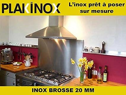 Credence En Inox Plakinox 90 X 70 Cm Inox Brosse 304 1 Mm