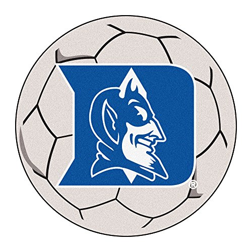 NCAA Duke University Blue Devils Soccer Ball Mat Round Area Rug ()