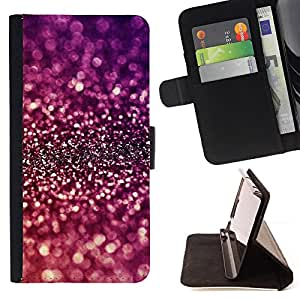 Glitter Sparkle Purple Bright Reflective - Painting Art Smile Face Style Design PU Leather Flip Stand Case Cover FOR HTC Desire 820 @ The Smurfs