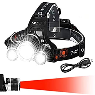 Victoper Head Torch (Upgrade Design), Zoomable Head Tools with 4 Modes and Red Warning, 6000 Lumen Super Bright, Hands… 12