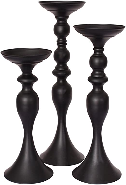 candles as wedding decor united with love.htm amazon com fengmicon vintage metal pillar candle holders black  vintage metal pillar candle holders