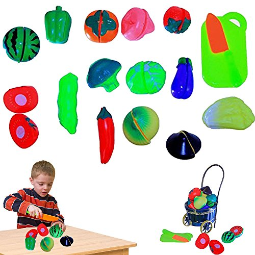Fruit Vegetables Velcro Playset Segmented product image