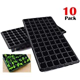 AIFUSI 10 Pack Seed Starter Kit, 72 Cell Seedling Trays Gardening Germination Tray Mini Propagator Plant Grow Kit Plug Tray Starting Trays for Seedling Germination