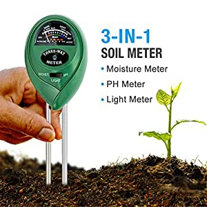 MacDoDo 3-in-1 Soil Moisture Meter, Light and PH acidity Tester, Plant Soil Tester Kit, Great For Garden, Farm, Lawn, Indoor & Outdoor (No Battery needed)