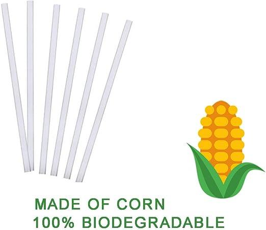 Ecológico Biodegradable desechables paja | 8 en | 100 Count ...
