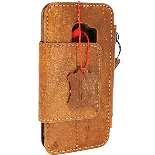Genuine natural real Leather Case for Samsung Galaxy S9 plus Book Wallet cover cards removable Luxury magnet closure Cover S Handmade Retro Id cards slots s 8 brown chocolate daviscase