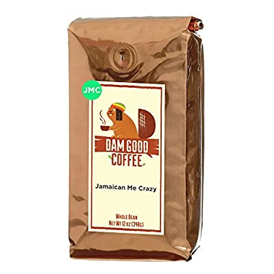 Dam Good Coffee – Jamaican Me Crazy - Taste of Jamaica via a Blend of Kahlua, Caramel & Vanilla – Whole Bean - Rich Body - Smooth & Flavorful – Bulletproof Coffee Ready - 12 Oz