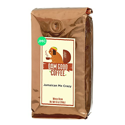 Dam Good Coffee - Jamaican Me Crazy - Taste of Jamaica via a Blend of Kahlua, Caramel & Vanilla - Whole Bean - Rich Body - Smooth & Flavorful - Bulletproof Coffee Ready - 12 Oz