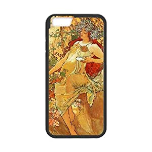 Zodiac Signs Alphonse Mucha iPhone 6 4.7 Inch Cell Phone Case Black Olmiw