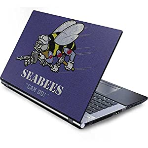 Skinit US Navy Generic 17in Laptop (15.2in X 9.9in) Skin - Seabees Can Do Design - Ultra Thin, Lightweight Vinyl Decal Protection by Skinit