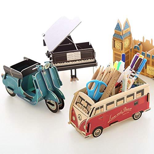 (PomPomHome Mascot Series DIY Paper Desktop Organizer Receive case Sorting Box Content Box Cosmetic Box Storage Office Small Object (Black Piano))