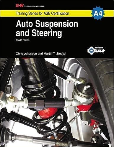 Book Auto Suspension & Steering Workbook, A4 by Chris Johanson (2014-01-31)