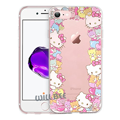 iPhone SE/iPhone 5S / iPhone 5 Case Hello Kitty Cute Border Clear Jelly Cover for [ Apple iPhone SE / 5S / 5 ] Case - Border Hello - Hello Case Kitty 5s