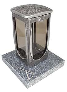 Grab lámpara a0656aluminio con base de granito), Impala matt
