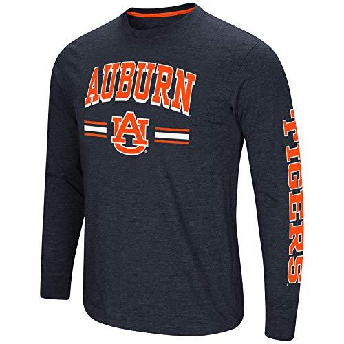 (Colosseum Men's NCAA-Touchdown Pass- Dual Blend Long Sleeve T-Shirt-Auburn)