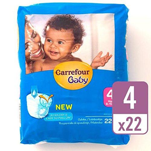 Carrefour bebé Ultra Dry Pull On tamaño 4 Carry Pack 22 por paquete: Amazon.es: Bebé