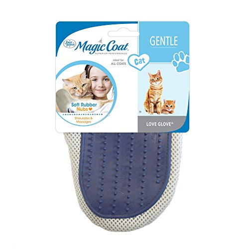 Four Paws Magic Coat Love Glove, Cat Brush Glove (Paw Mitts)