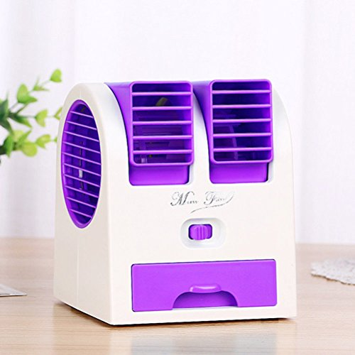 Simply Silver Air Conditioner Fan Mini Small Portable Ac Personal Handheld Cool Cold Summer