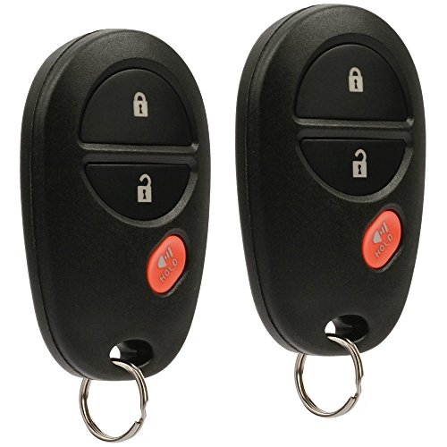 y Remote fits Toyota Tacoma Tundra Sienna Sequoia Highlander (GQ43VT20T), Set of 2 ()
