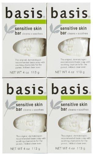 Basis Sensitive Skin Cleansing Bar - 4 oz - 4 pk by Basis