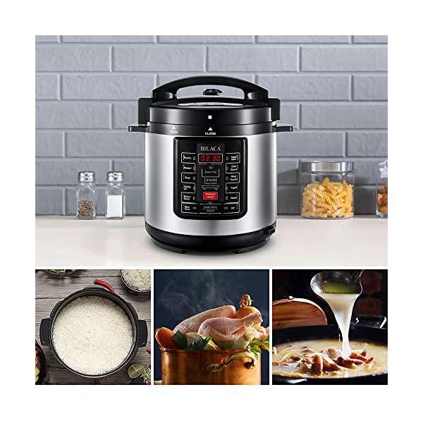 Electric Pressure Cooker,BILACA 6 Qt 9-in-1 Multi Programmable Pressure Cooker,Slow Cooker,Rice Cooker,Steamer,Yogurt… 6