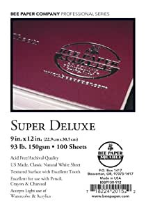 Bee Paper Company Super Deluxe Sketch Paper, 9 by 12-Inch, 100 Sheets per Pack