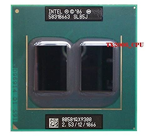 Intel Core 2 Extreme QX9300 SLB5J 2.53GHz 12MB Quad-core Mobile CPU Processor Socket P 478-pin Fans & Cooling at amazon