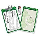 GoSports Baseball/Softball Dry Erase Coaches Board with 2 Dry Erase Pens