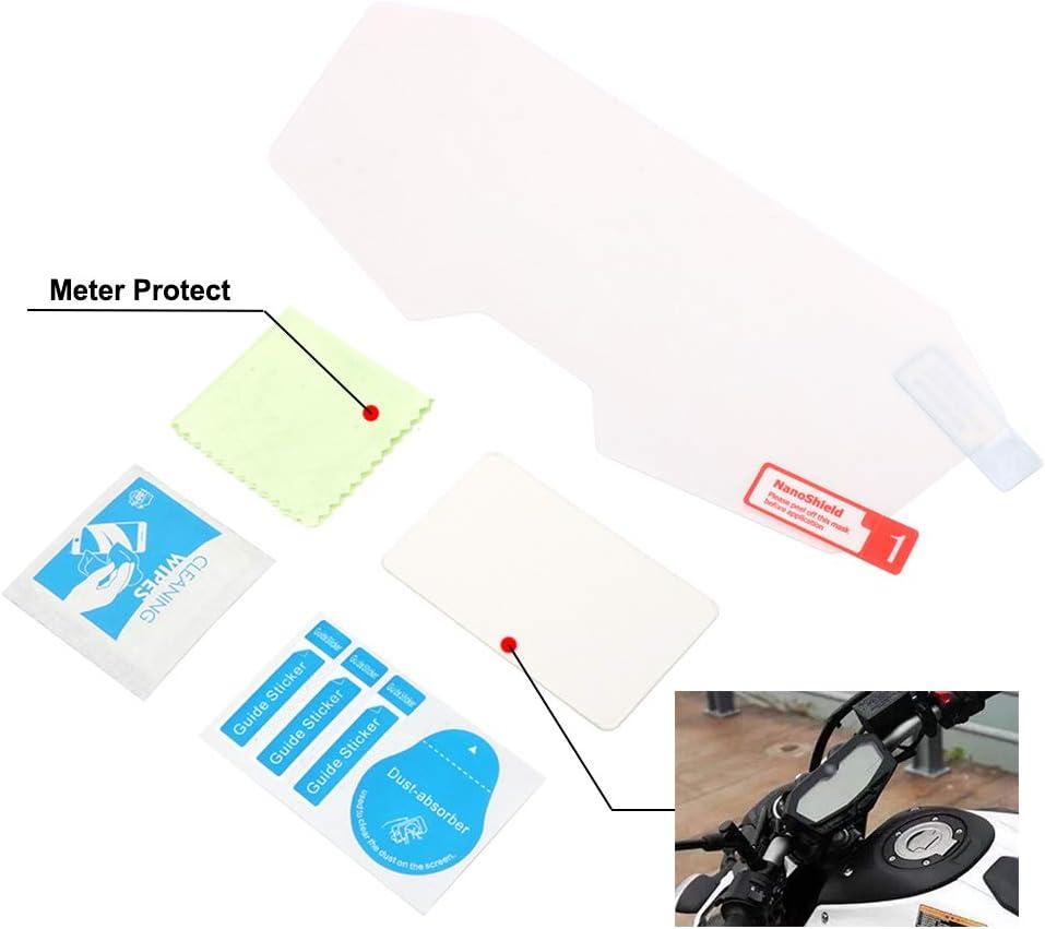 Fastpro Motorrad Cluster Tachometer Kratzschutz Folie Displayschutzfolie Kilometerzähler Instrument Tachometer Cluster Für Yamaha Mt07 Fz07 Auto