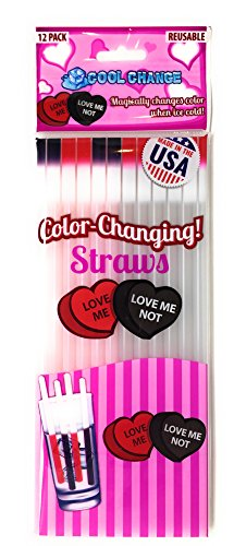 Cool Change Straws - Valentines Day Love Me Love Me Not
