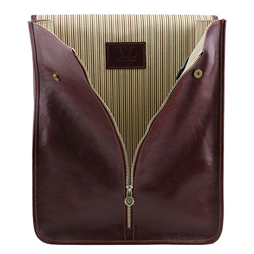 Tuscany Leather - Exclusive housse pour chemises en cuir - Marron - Homme