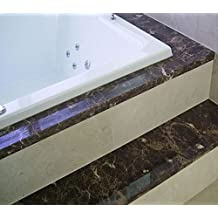 "Bathroom Countertop Instant Transformation Not Your Grandma's Contact Paper. Granite Peel and Stick Laminate Vinyl. Dark Emperador Granite Look 36"" W x 120"" L Roll Premium Peel and Stick"