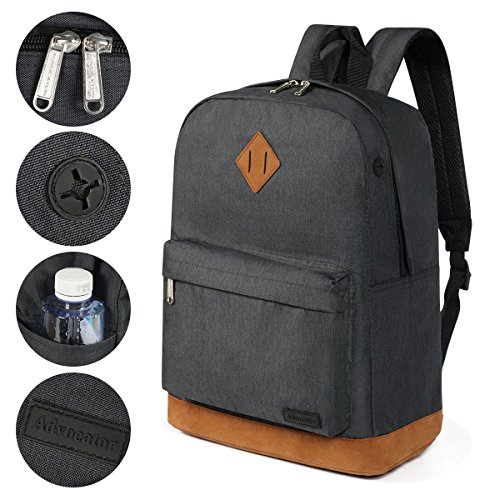 TOPTIE Fits Classic Fits 14Inch School Backpack Backpack Unisex Classic Laptop Unisex School TOPTIE Laptop Black 14Inch SFWpnABxFY