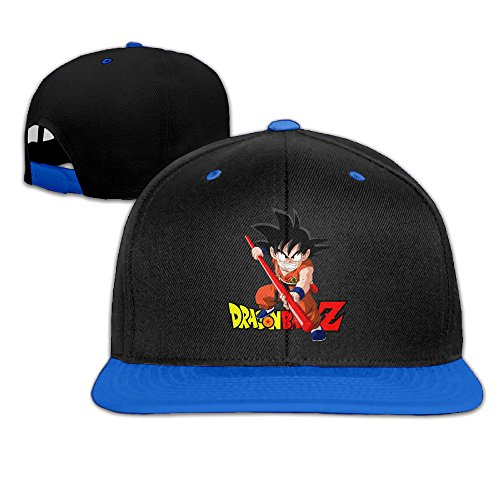 Kualday Kid's Dragon Ball Z Goku Plain Adjustable Snapback Hats Caps RoyalBlue (Goku Children)