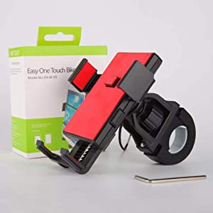 Excellent Home Bike Mount, 360° Rotary Adjustable Bicycle Phone Holder for Any Smartphone with iPhone XR, XS Max / 8/8 Plus, 7, 6 / 6s Plus, Galaxy S9 / S9 Plus, 4.0