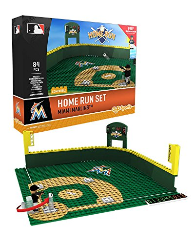Oyo Sportstoys MLB Miami Marlins Baseball Home Run Derby Playset Minifigure, Small, White