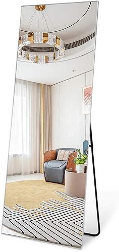 Leafmirror Full Length Mirror Dressing Floor Mirror Hanging Free Standing Metal Frame Full Body Mirror Leaning