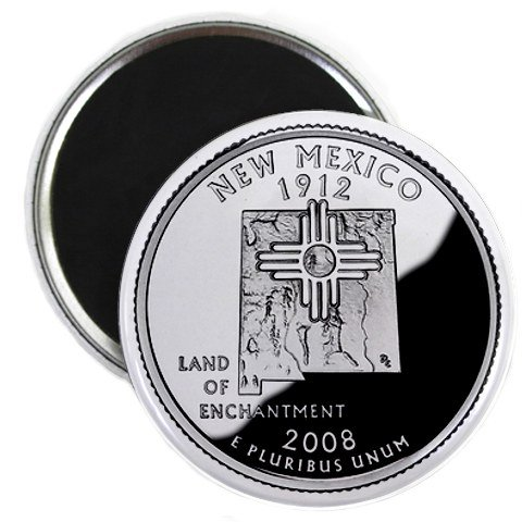 New Mexico State Quarter Mint Image 2.25 inch Fridge Magnet
