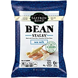 Saffron Road Bean Stalks, Sea Salt, 1.0 Ounce (Pack of 12)