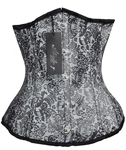 Alivila.Y Fashion Tapestry Underbust Corset 2686-2995-Grey-S