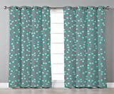 iPrint Stylish Window Curtains,Tree,Seasonal Garden Small Daisies on Pink Branches Bridal Wedding Theme Romantic Soft,Teal Pink White,2 Panel Set Window Drapes,for Living Room Bedroom Kitchen Cafe Review