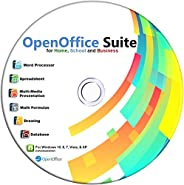 Open Office on CD for Home Student and Business, Compatible with Microsoft Office Word Excel PowerPoint for Wi