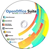 Open Office on CD for Home Student and Business, Compatible with Microsoft Office Word Excel PowerPoint for Windows 10 8…