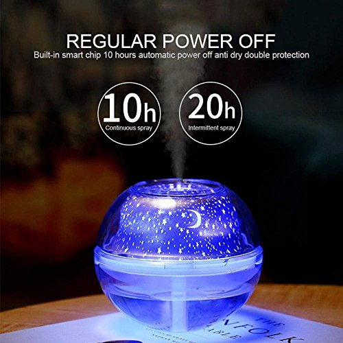Gesundhome Led Crystal Night Light Projection Humidifier