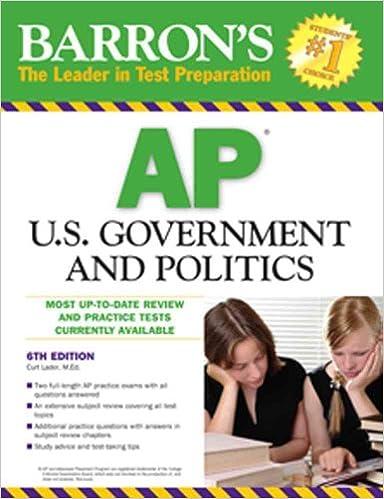 AP US Government and Politics (Barrons Ap U.S. Government and Politics)