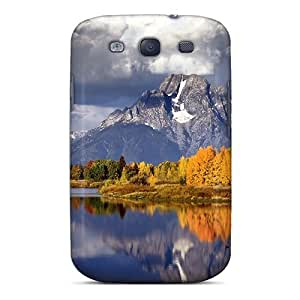 Cute Appearance Cover/tpu JGoslpY2666ZZJql Beautiful Autumn Mountainscape Case For Galaxy S3