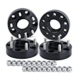 5x5 to 5x5 Wheel Spacers for Jeep, 4Pcs 1.5'' 5x127 to 5x127 HubCentric Dynofit Forged Wheel Adapters,1/2''-20 Thread, 71.5mm Hub Bore for Grand Cherokee WJ WK, Commander XK, Wrangler JK(2007-19)
